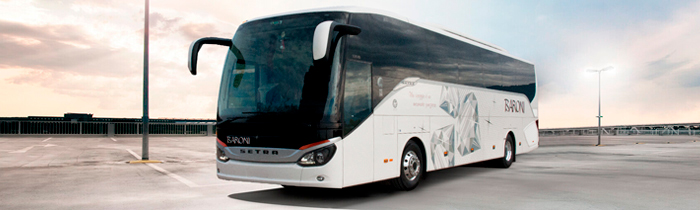 Luxury Setra coaches GT 54/56 seats with chauffeur - NCC Italy Baroni Autonoleggi Assisi