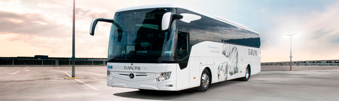 Weelchair accessible Mercedes-Benz coaches with chauffeur - NCC Italy Baroni Autonoleggi Umbria
